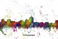 Albuquerque New Mexico Skyline Multi Colored 1 Fine Art Print