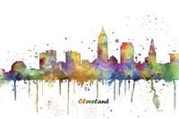 Cleveland Ohio Skyline Multi Colored 1 Fine Art Print
