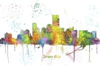 Jersey City New Jersey Skyline Multi Colored 1 Fine Art Print