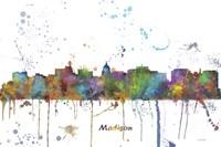 Madison Wisconsin Skyline Multi Colored 1 Fine Art Print