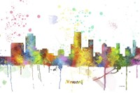 Newark New Jersey Skyline Multi Colored 1 Fine Art Print
