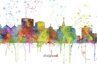 Oakland California Skyline Multi Colored 1 Fine Art Print