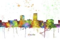 Omaha Nebraska Skyline Multi Colored 1 Fine Art Print