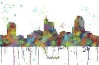 Raleigh North Carolina Skyline Multi Colored 1 Fine Art Print