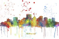 Richmond Virginia Skyline Multi Colored 1 Fine Art Print