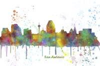 San Antonio Texas Skyline Multi Colored 1 Fine Art Print