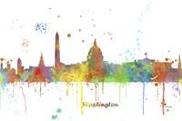 Washington DC Skyline Multi Colored 1 Fine Art Print
