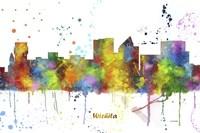 Wichita Kansas Skyline Multi Colored 1 Fine Art Print