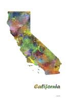 California State Map 1 Fine Art Print
