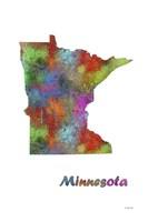 Minnesota State Map 1 Fine Art Print