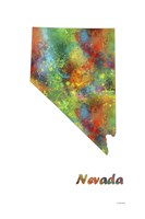 Nevada State Map 1 Fine Art Print