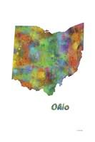 Ohio  State Map 1 Fine Art Print