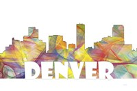 Denver Colorado Skyline Multi Colored 2 Fine Art Print