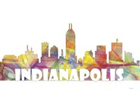Indianapolis Indiana Skyline Multi Colored 2 Fine Art Print