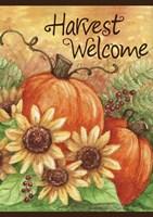 Pumpkin Sunflower Flag Fine Art Print