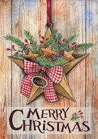 Merry Christmas Barn Star Fine Art Print