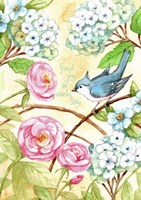 Rose And Bird Joy Each Day 2 Fine Art Print
