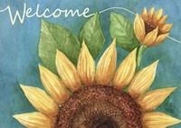 Big Sunflower Welcome Fine Art Print