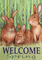 Bunnies Welcome Spring Fine Art Print