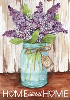 Lilacs Home Sweet Home Jar Fine Art Print