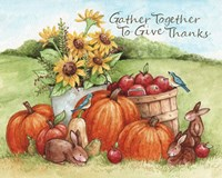 Gather Together To Give Thanks Fine Art Print