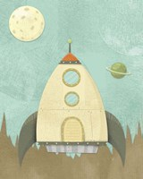 Kids Spaceship Fine Art Print
