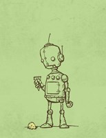 Robot Icecream Fine Art Print