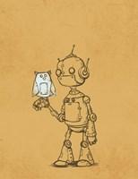 Robot Owl Framed Print