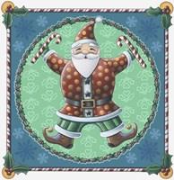 Santa & Snowflakes Fine Art Print