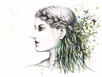Forest Lover Girl Portrait Fine Art Print