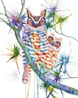 Momma and Baby Owl Fine Art Print