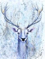 Blue Spirit Deer Fine Art Print