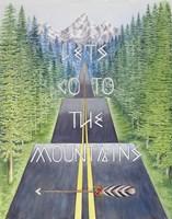 Mountain Travel Quote Fine Art Print