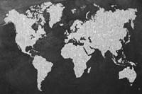 Grey Map Fine Art Print