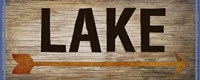 Lake Sign 1 Fine Art Print