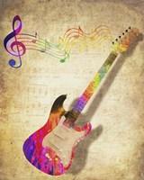 Color Music Guitar Fine Art Print