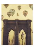 Bridge Balloons Vert Fine Art Print