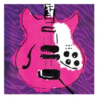 Girly Guitar Zoom Mate Framed Print