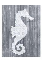 Seahorse Wood Panel Fine Art Print
