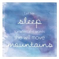 Sleeping Mountains Fine Art Print
