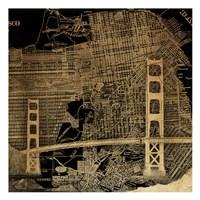 Golden Map Fine Art Print