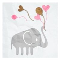 Elephant Balloon Fine Art Print