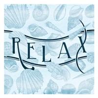 Relax Shells Framed Print
