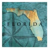 Florida Sea Map Fine Art Print