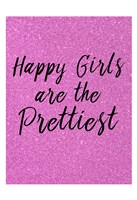 Happy Girls Pink Fine Art Print