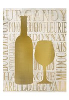 Golden Wine Silhouette 1 Fine Art Print