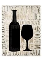 Wine Silhouette 1 Fine Art Print