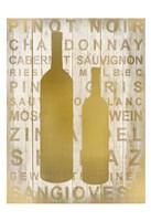 Golden Wine Silhouette 2 Fine Art Print