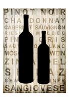 Wine Silhouette 2 Fine Art Print