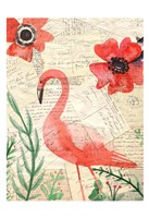 Postcard Flamingo 2 Fine Art Print